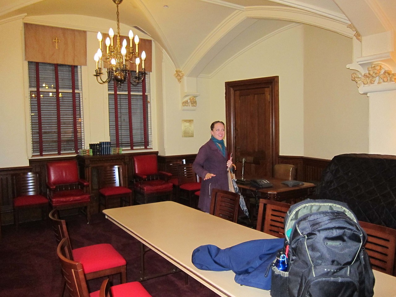 First-floor vestry, with its own bathroom